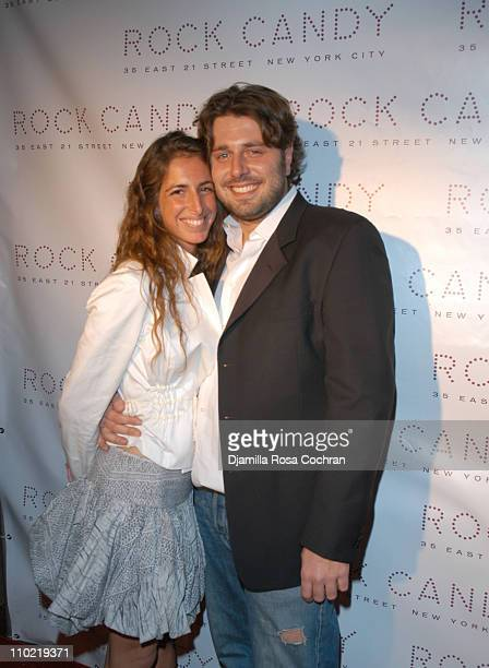 Tara Goldman and Danny Divine during The Launch of Rock Candy at Rock Candy in New York City New York United States
