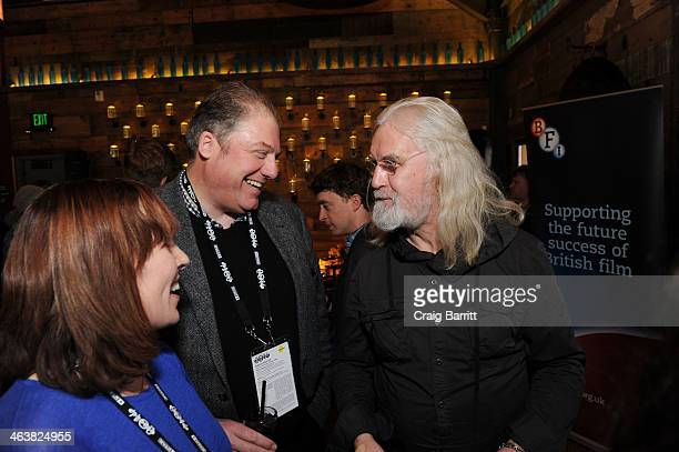 Tara Halloran Adrian Wootton and Billy Connolly attend the UK Film Party At Sundance 2014 on January 19 2014 in Park City Utah