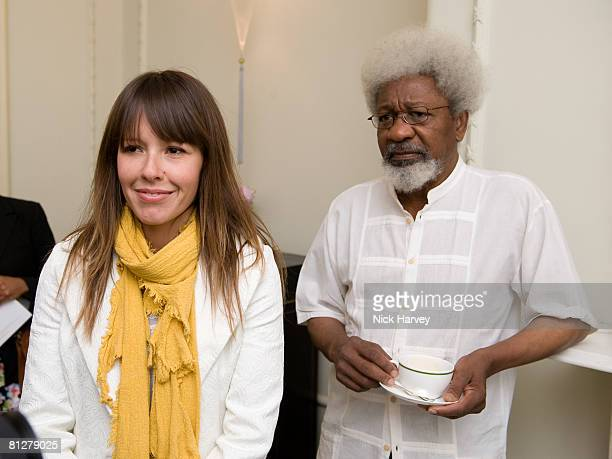 Tara June Winch and Wole Soyinka attend the Rolex Mentor and Protege Arts Initiative at Browns Hotel on May 29, 2008 in London, England.