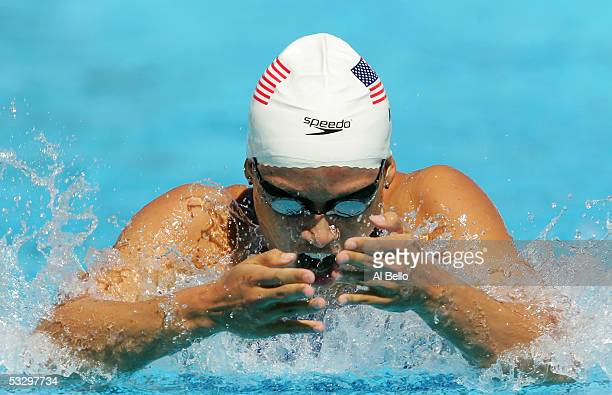 Tara Kirk of the United States competes in the preliminary heats of the 200 meter Breaststroke the XI FINA World Championships at the Parc...