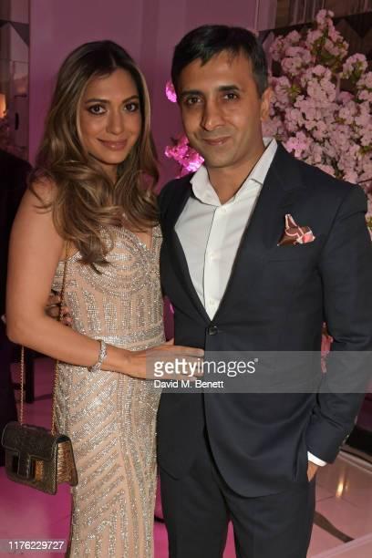 Tara Lalvani and Tej Lalvani attend the Lady Garden Foundation Gala 2019 at Claridge's Hotel on October 16 2019 in London England