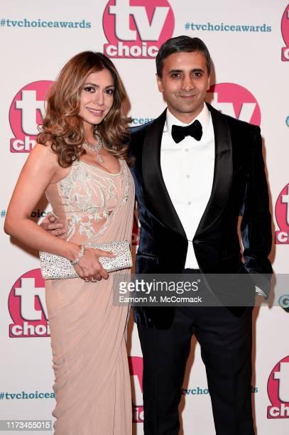 Tara Lalvani and Tej Lalvani attend The TV Choice Awards 2019 at Hilton Park Lane on September 09 2019 in London England