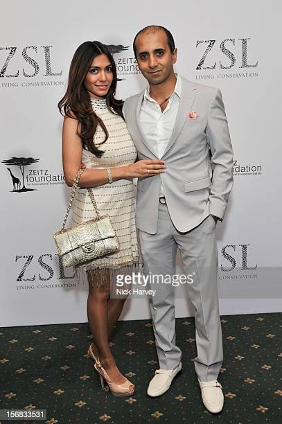 Tara Lalvani and Tej Lalvani attends the Zeitz Foundation and ZSL gala at London Zoo on November 22 2012 in London England