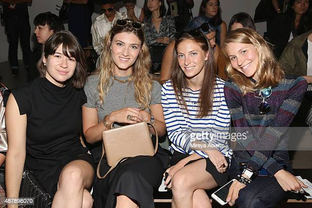 Tara LamontDjite Megan Reynolds Mallory Schlau and Jessica Minkoff attend the Dion Lee fashion show during Spring 2016 MADE Fashion Week at Milk...