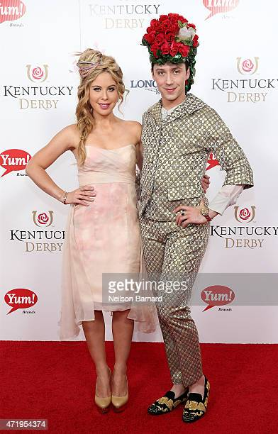 Tara Lipinski and Johnny Weir attend the 141st Kentucky Derby at Churchill Downs on May 2 2015 in Louisville Kentucky