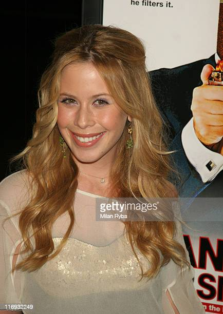 "Tara Lipinski during ""Thank You For Smoking"" Los Angeles Premiere - Arrivals at Directors Guild Of America in Los Angeles, California, United States."