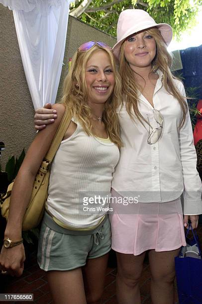 Tara Lipinski Lindsay Lohan during 2003 Teen Choice Awards Backstage Creations Day of Show at Universal Amphitheatre in Universal City California...
