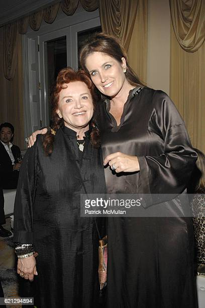Tara Lynda Guber and Elizabeth Callendar attend The Vision and Art of SHINJO ITO Opening Night Dinner at Beverly Hills Hotel on May 7 2008 in Beverly...