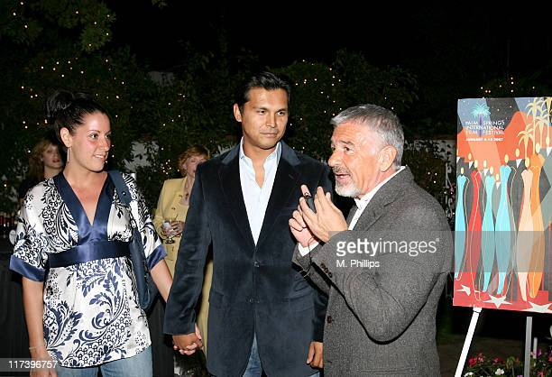 Tara Mason Adam Beach and Darryl Macdonald during Palm Springs International Film Festival and Los Angeles Confidential Cocktail Reception at Private...