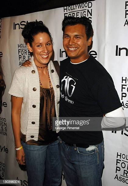 Tara Mason and Adam Beach during 31st Annual Toronto International Film Festival InStyle and the Hollywood Foreign Press Association Party Arrivals...