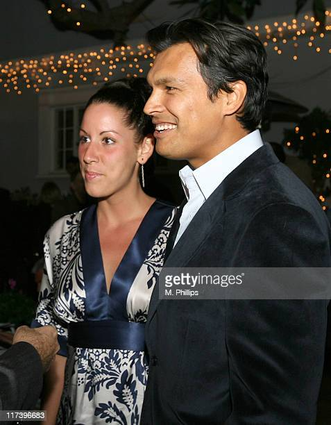 Tara Mason and Adam Beach during Palm Springs International Film Festival and Los Angeles Confidential Cocktail Reception at Private Home in Beverly...