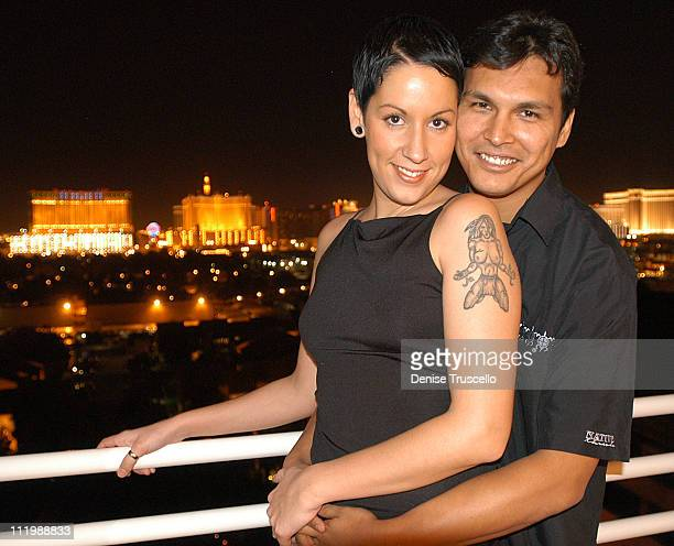 Tara Mason and Adam Beach during 'The Big Empty' Premiere at Hard Rock Hotel And Casino in Las Vegas Nevada