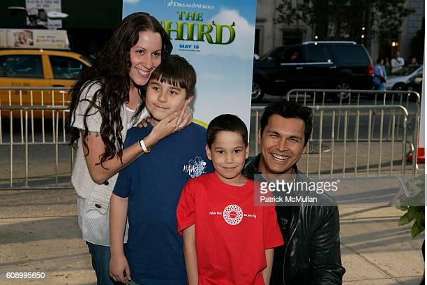 Tara Mason Beach Noah Beach Luke Beach and Adam Beach attend Shrek the Third Dreamworks Special Screening at Chelsea Clearview Cinemas on May 14 2007...