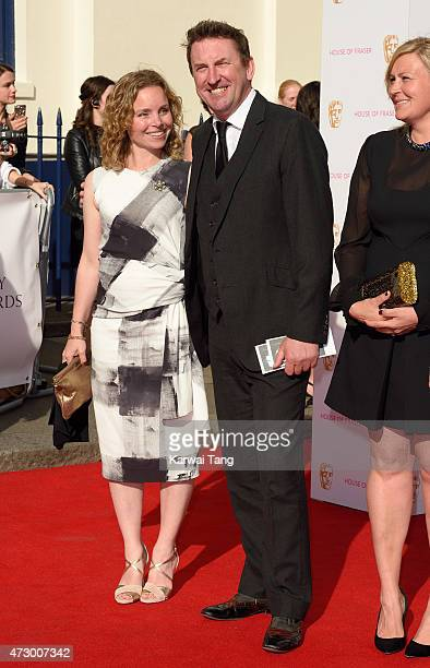 Tara McKillop and Lee Mack attend the House of Fraser British Academy Television Awards at Theatre Royal on May 10 2015 in London England