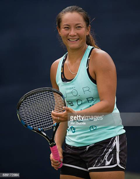 Tara Moore of Great Britain during practice on day five of the WTA Aegon Open on June 10 2016 in Nottingham England