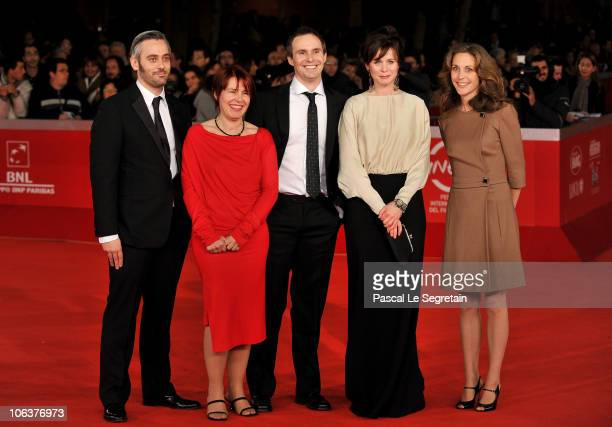Tara Morice Emily Watson Jim Loach Rona Munroand guest attend the Oranges and Sunshine premiere during The 5th International Rome Film Festival at...
