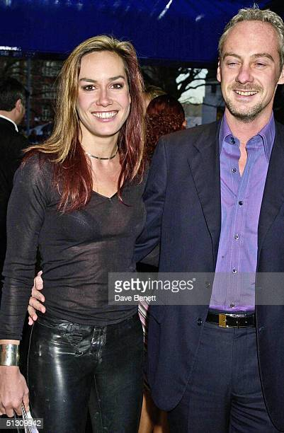 """Tara Palmer Tomkinson and her boyfriend attend the UK Premiere of """"Bridget Jones's Diary"""" at the Empire Leicester Square followed by the party at..."""