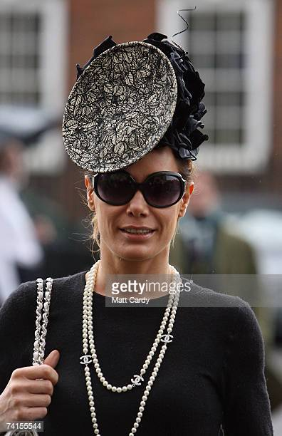 Tara Palmer Tomkinson arrives for the funeral service for fashion stylist Isabella Blow at Gloucester Cathedral on May 15 2007 in Gloucester England...