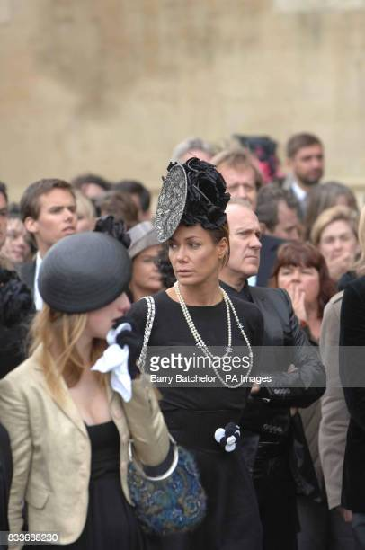Tara Palmer Tomkinson attends Isabella Blow's funeral service at Gloucester Cathedral