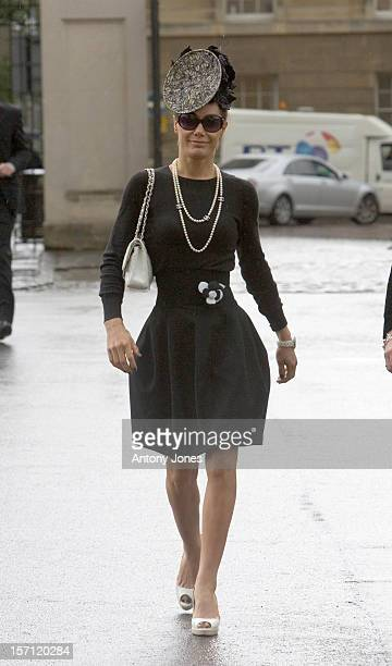 Tara Palmer Tomkinson Attends The Funeral Of Fashion Stylist Isabella Blow Held At Gloucester Cathedral