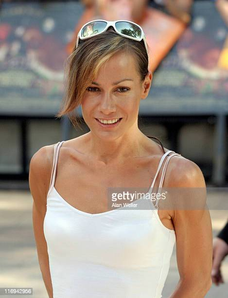 Tara Palmer Tomkinson during Charlie and the Chocolate Factory London Premiere at Odeon Leicester Square in London United Kingdom