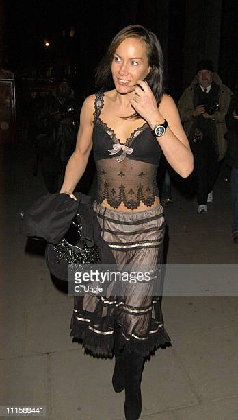 Tara Palmer Tomkinson during Piers Morgan Private Book Launch Party at Axis Restaurant in London United Kingdom
