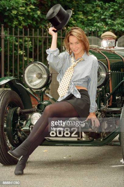 Tara Palmer Tomkinson model and socialite and god daughter of Prince Charles Picture shows Tara modelling the new shirt for The Bertie Wooster...