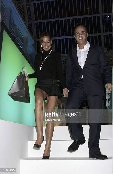 Tara PalmerTomkinson and Ant McPartlin attend the GQ Magazine of The Year Awards 2003 in the Floral Hall at the Royal Opera House in Covent Garden on...