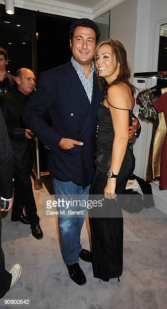 Tara PalmerTomkinson and boyfriend at the Hervé Léger by Max Azria London Store Launch Party on September 17 2009 in London England