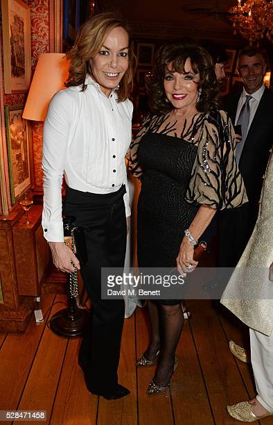 Tara PalmerTomkinson and Dame Joan Collins attend the launch of Dame Joan Collins' new book 'The St Tropez Lonely Hearts Club' at Harry's Bar on May...