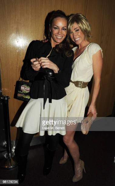 Tara PalmerTomkinson and Jenny Frost attend the Walkers campaign launch at Orchid on March 29 2010 in London England