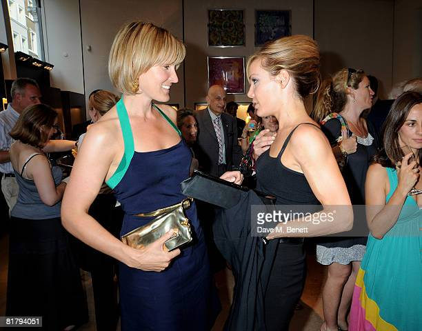 Tara PalmerTomkinson and Santa Montefiore attend the book launch party of Simon Sebag Montefiore's book 'Sashenka' at Asprey on July 1 2008 in London...