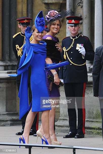 Tara PalmerTomkinson arrives to attend the Royal Wedding of Prince William to Catherine Middleton at Westminster Abbey on April 29 2011 in London...