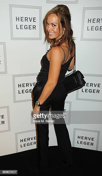 Tara PalmerTomkinson at the Hervé Léger by Max Azria London Store Launch Party on September 17 2009 in London England