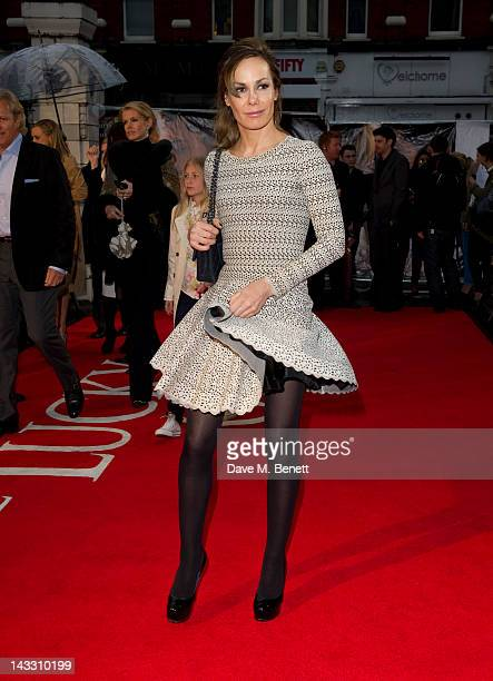 Tara PalmerTomkinson attends 'The Lucky One' European premiere at the Chelsea Cinema on April 23 2012 in London England