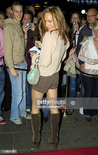 Tara Palmer-Tomkinson during Sugababes in Concert - October 29, 2006 - Arrivals at Dominion Theatre in London, Great Britain.
