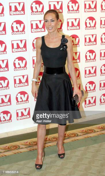 Tara PalmerTompkinson during TV Quick Awards TV Choice Awards Inside Arrivals at The Dorchester in London Great Britain