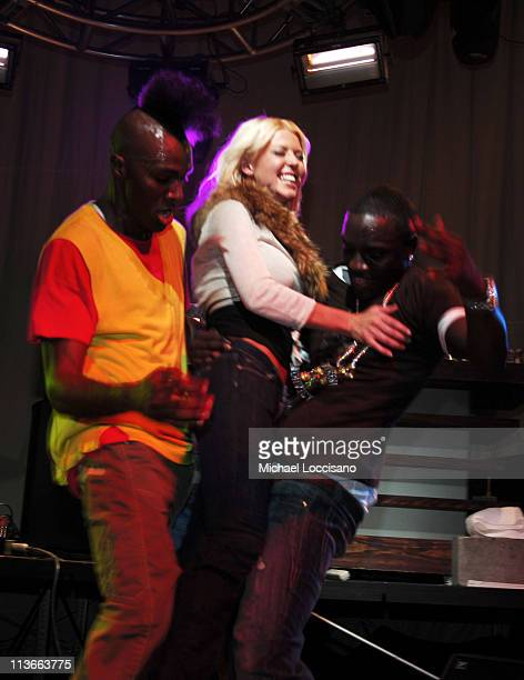 Tara Reid and Akon during 2007 Park City Blender Sessions Day 1 Inside at Harry O's in Park City Utah United States