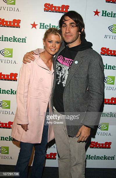 Tara Reid and Brent Bolthouse during Stuff Magazine Presents The Granny Party at Avalon in Hollywood California United States
