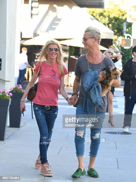 Tara Reid and Dean May are seen on September 29 2017 in Los Angeles California