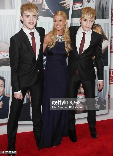 Tara Reid and Jedward at the Irish premiere of American Pie The Reunion at the Savoy Cinema in Dublin