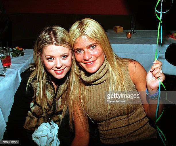 Tara Reid and publicist Lizzie Grubman at Grubman's 30th birthday party at Moomba in New York City