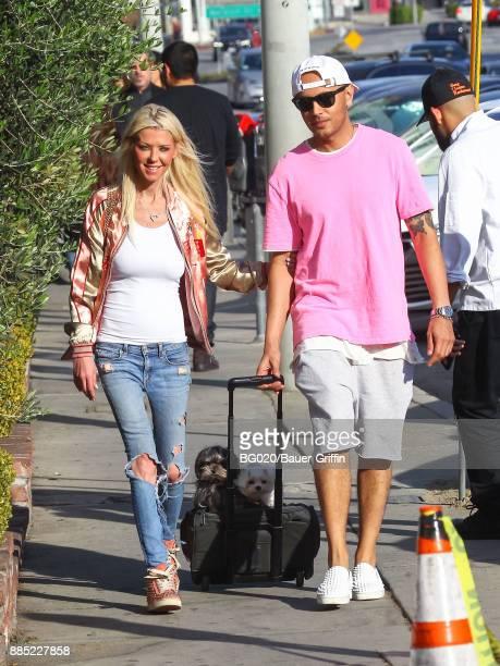 Tara Reid and Ted Dhanik are seen on December 03 2017 in Los Angeles California