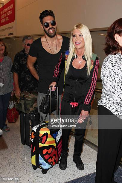 Tara Reid and Yavuz Cansiz are seen at LAX on October 09 2015 in Los Angeles California