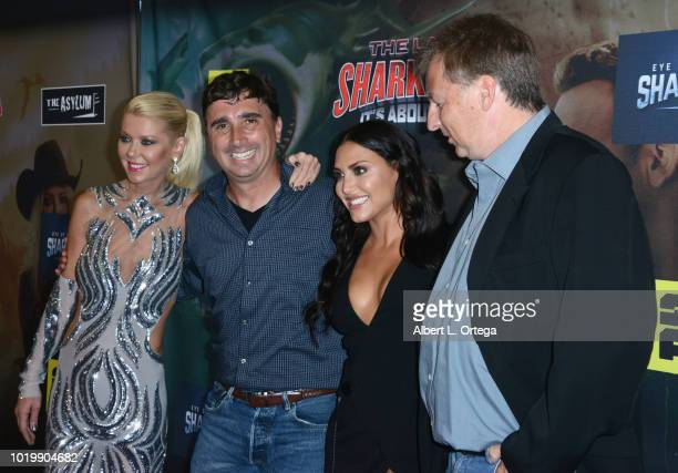 Tara Reid Anthony C Ferrante Cassie Scerbo and Thunder Levin arrive for the Premiere Of The Asylum And Syfy's 'The Last Sharknado It's About Time'...
