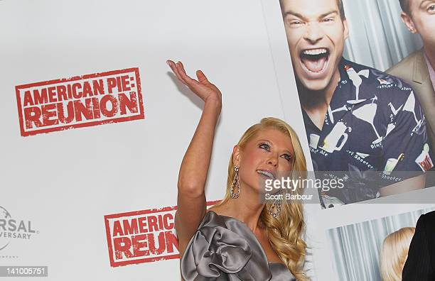 Tara Reid arrives at the Australian premiere of American Pie Reunion on March 7 2012 in Melbourne Australia