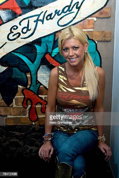 Tara Reid attends the launch of the 'ED HARDY' boutique store on december 12, 2007 on the Gold Coast, Australia.
