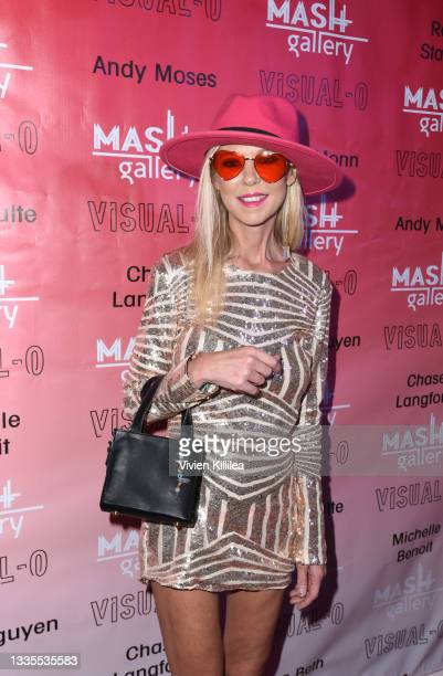 Tara Reid attends Visual-O Exhibition At Mash Gallery on August 21, 2021 in Los Angeles, California.