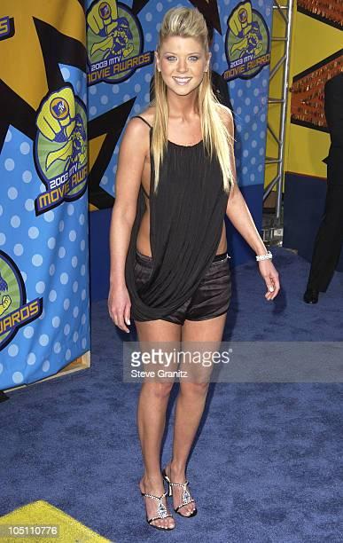 Tara Reid during 2003 MTV Movie Awards Arrivals at The Shrine Auditorium in Los Angeles California United States