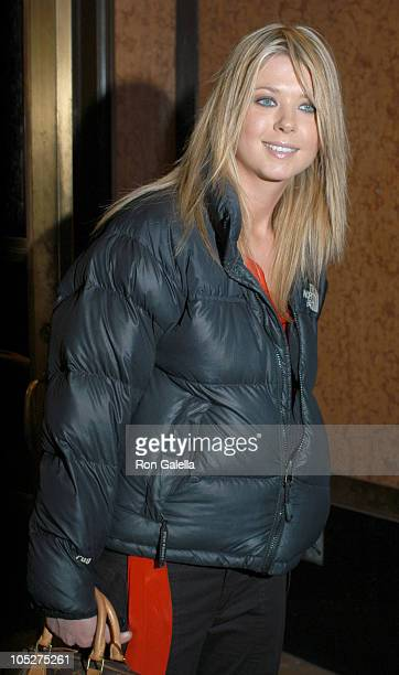 Tara Reid during Tara Reid Sighting at Streets of New York in New York City New York United States